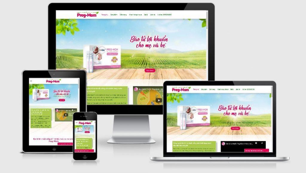 mẫu thiết kế web bán thực phẩm chức năng đẹp
