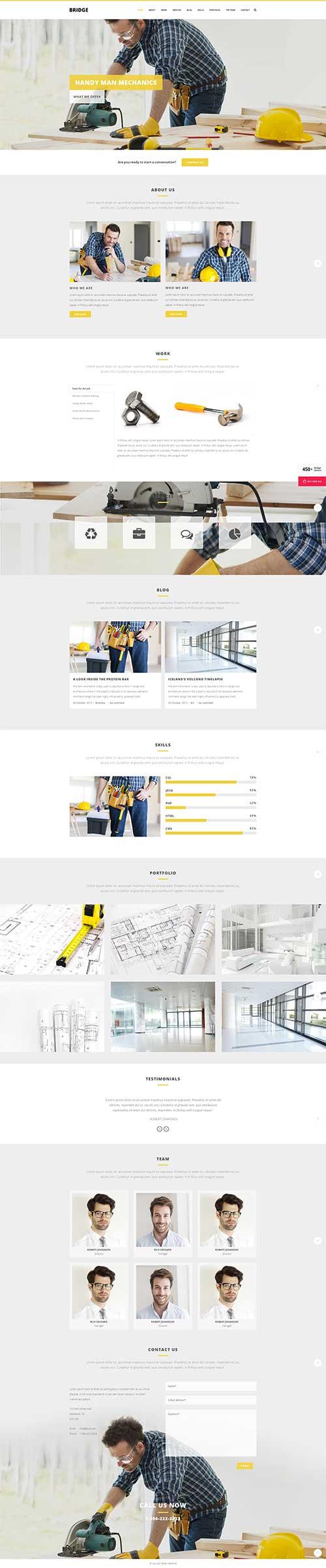 Mẫu website Thi công, Sửa chữa Cơ khí, thiết bị công nghiệp ...