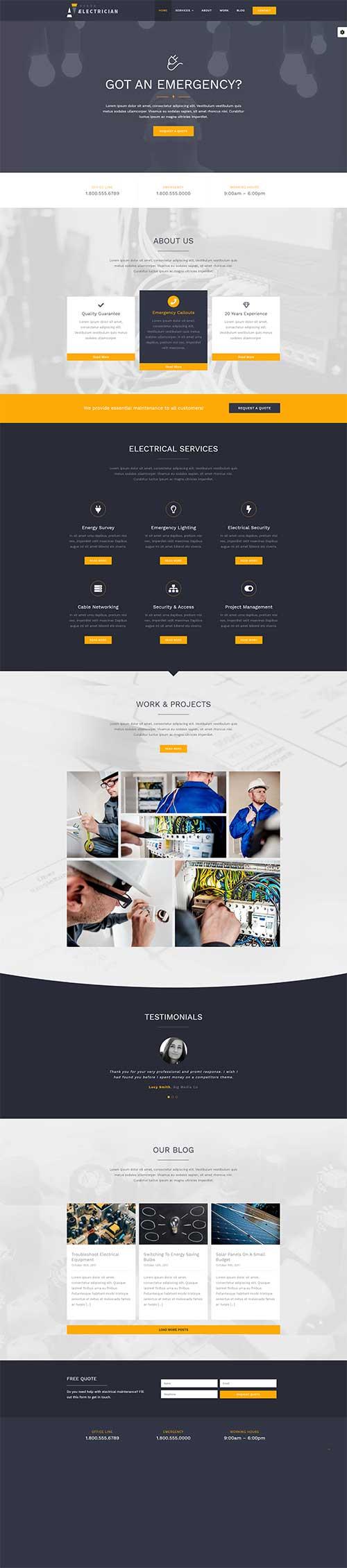Website Đơn vị cung cấp dịch vụ sửa điện