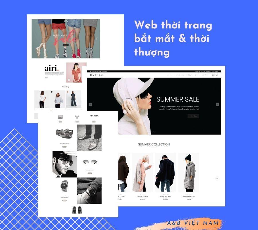 Dịch vụ thiết kế web bán hàng thời trang nam nữ