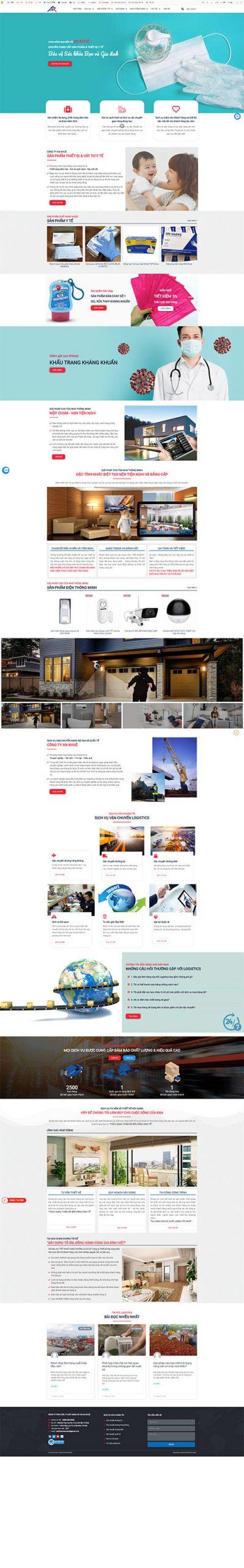 Website Vật tư Thiết bị Y tế, DV Tổng hợp An Khuê