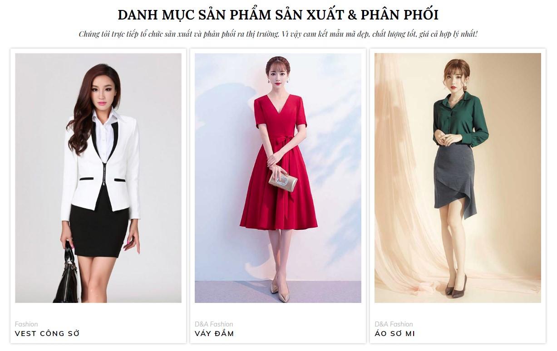 Thiết kế danh mục bán hàng thời trang