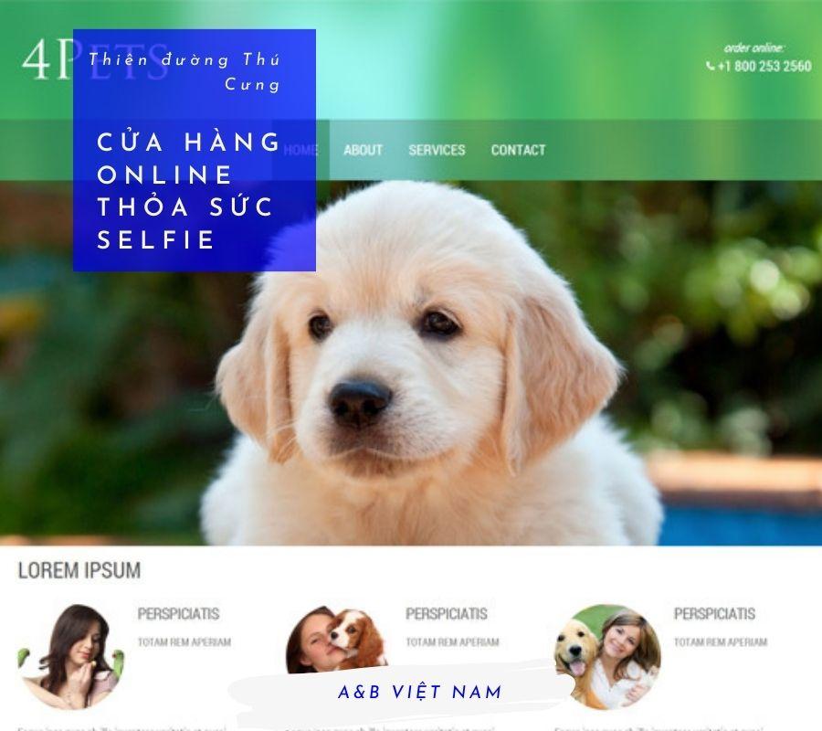 Thiết kế web Cửa hàng Thú cưng trọn gói 1