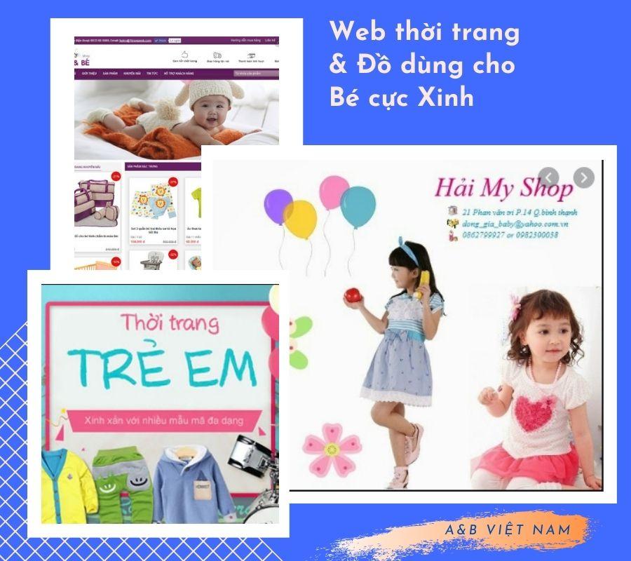 Thiết kế web bán hàng thời trang mẹ và bé chuyên nghiệp