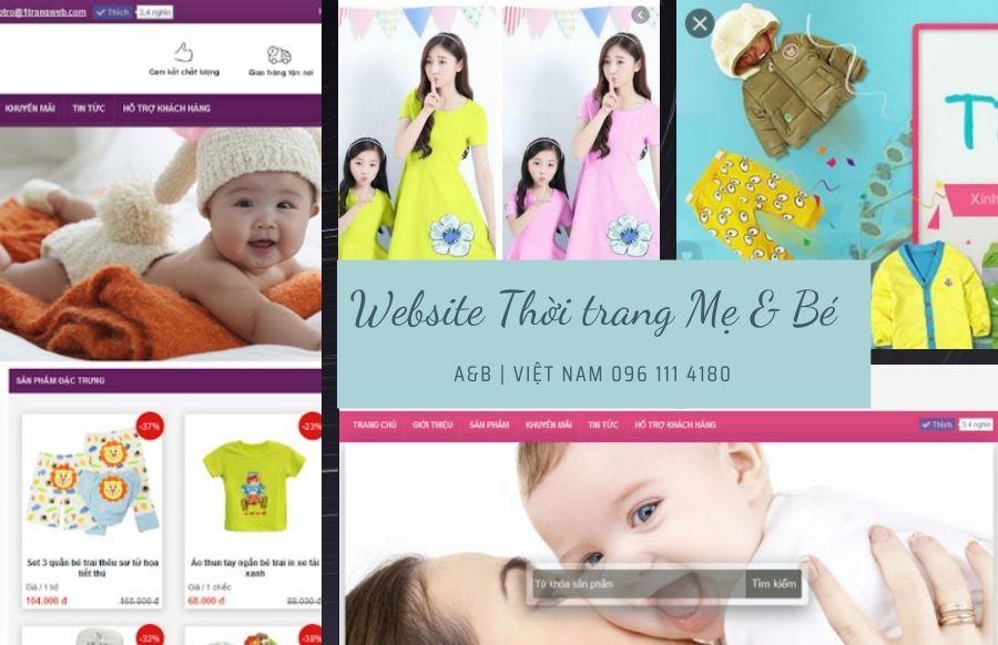 Thiết kế web bán hàng thời trang mẹ và bé