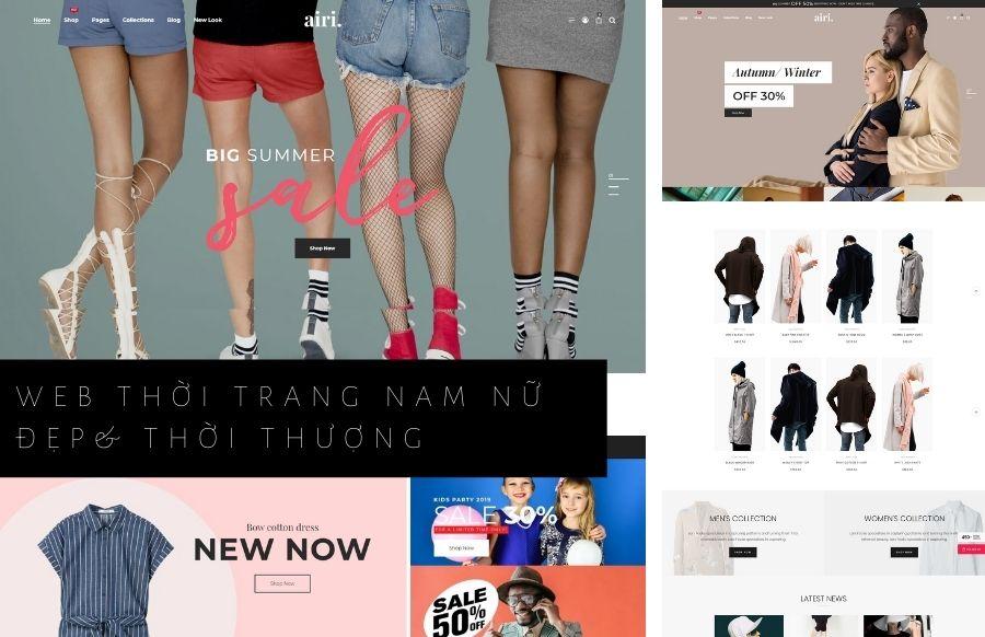 Thiết kế web bán hàng thời trang tại Thái Bình