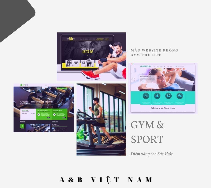 Thiết kế web trọn gọi Phòng tập Gym
