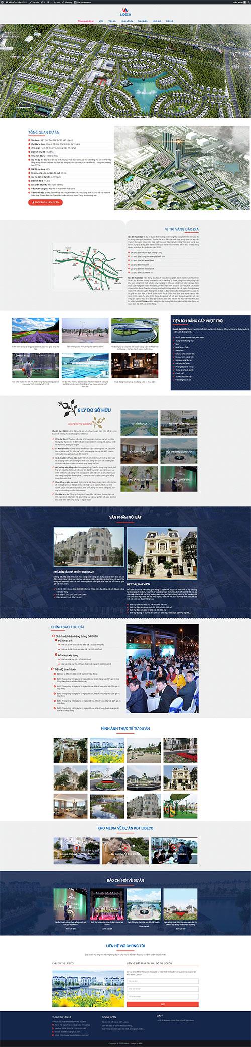 Web Bất động sản   Khu đô thị Lideco