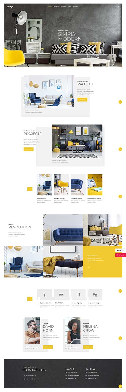 Website Thiết kế nhà – Hom decor Brige