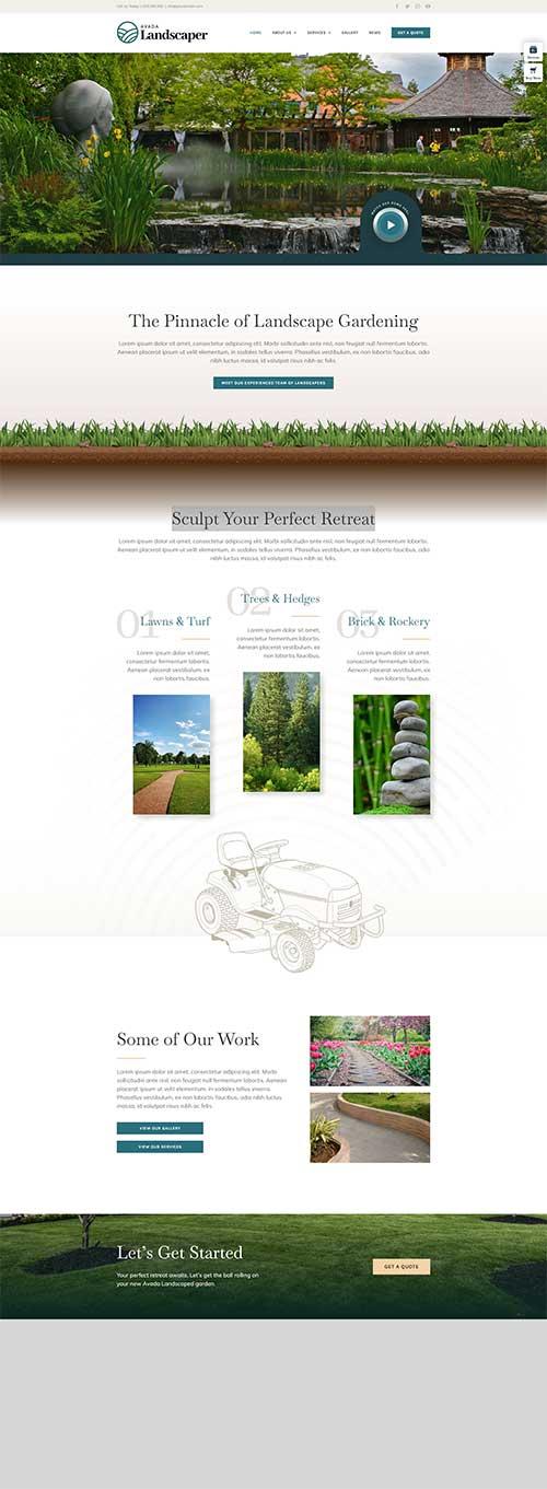 Mẫu web Dịch vụ làm vườn đẹp