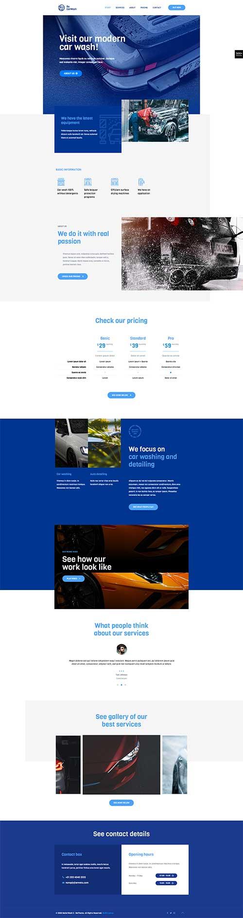 Website Dịch vụ rửa xe siêu sạch và uy tín