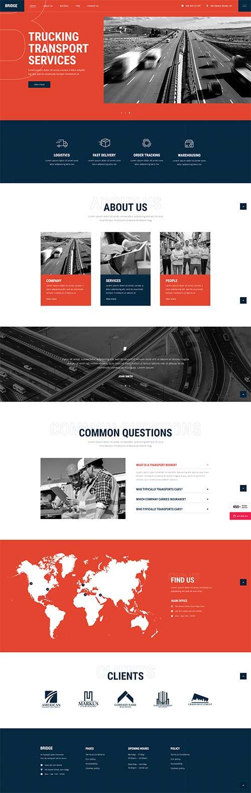 Mẫu web Dịch vụ vận tải đường bộ chuyên nghiệp uy tín