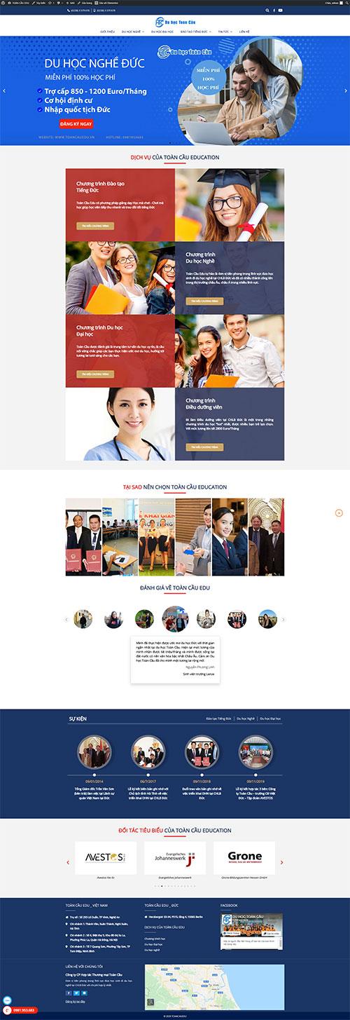 Mẫu website Du học Toàn Cầu chuyên nghiệp uy tín