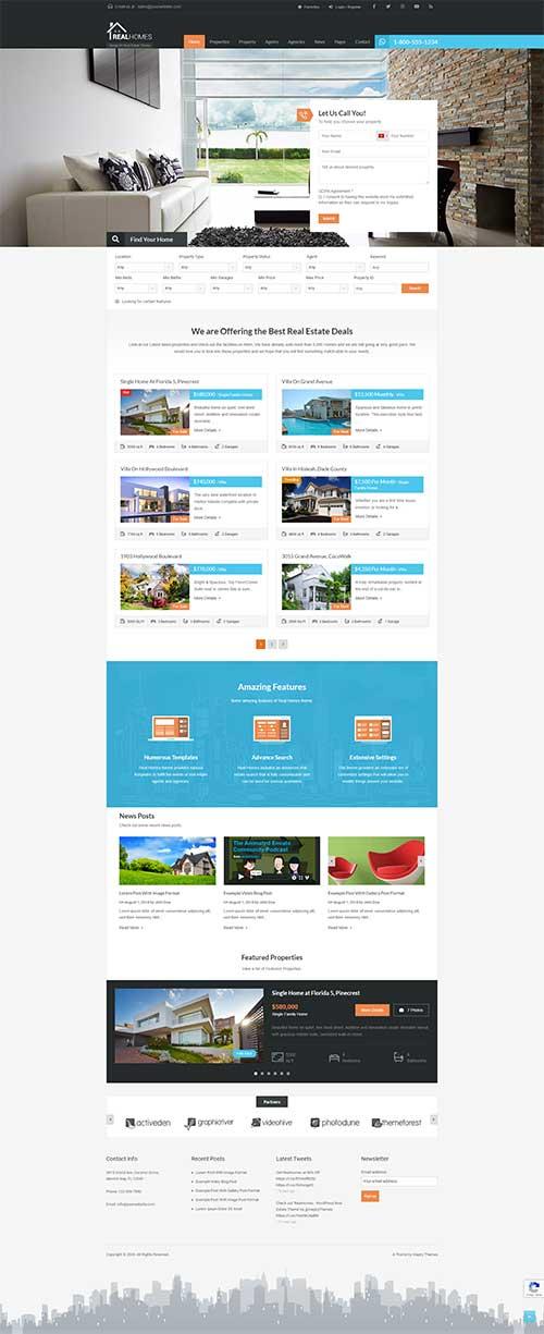 Mẫu web bán và cho thuê bất động sản