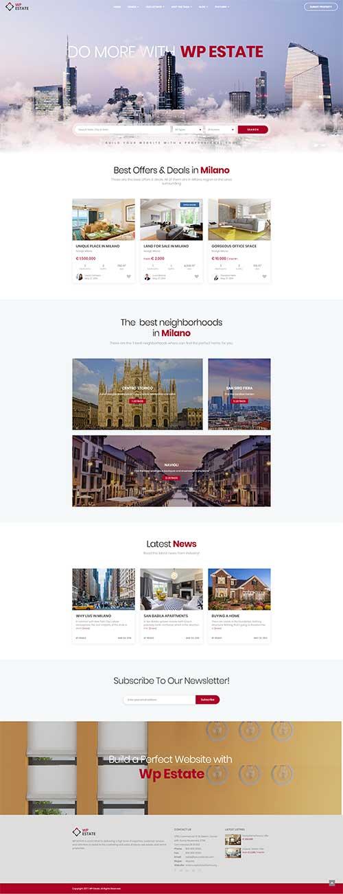 Mẫu web Nhiều dự án Bất động sản