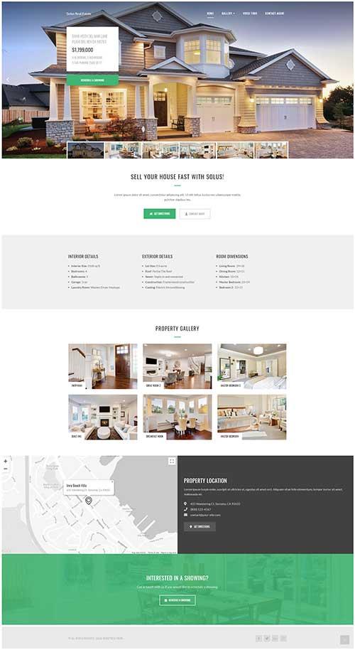 Mẫu Web Bất Động Sản 1 Dự Án Solus Real Estate