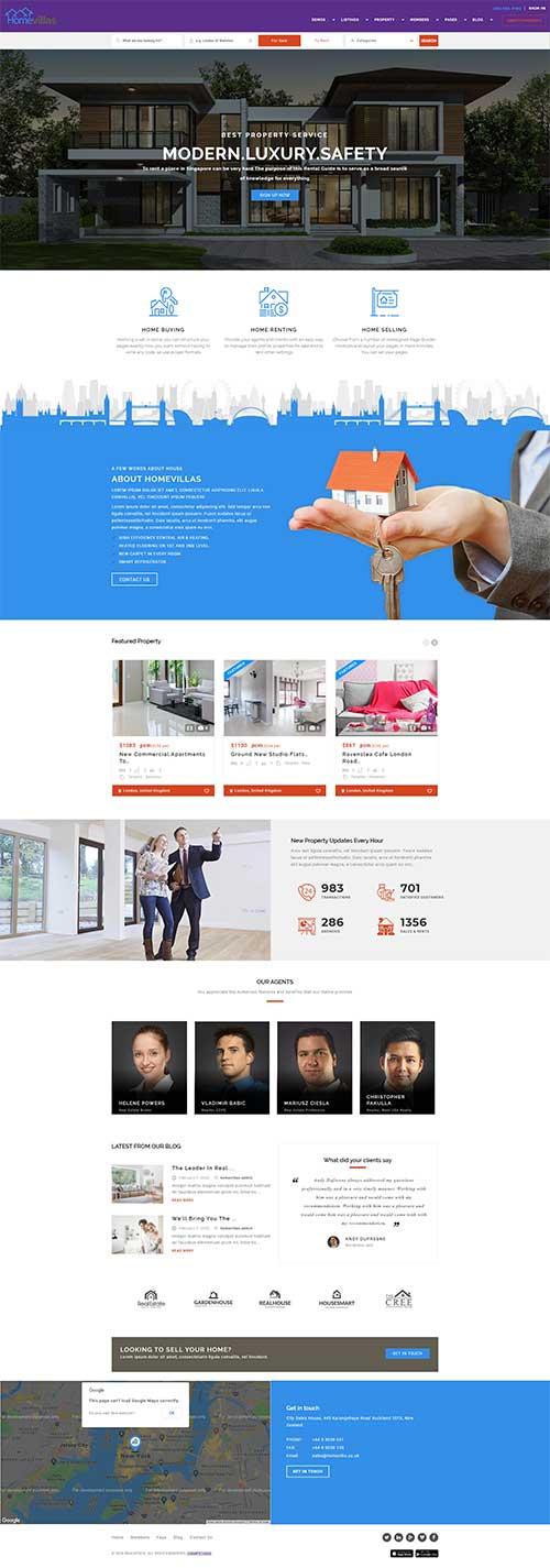 Mẫu web Mua bán cho thuê Bất động sản chuyên nghiệp uy tín