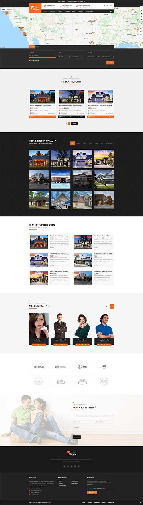 Mẫu web Bán và cho thuê bất động sản bắt mắt
