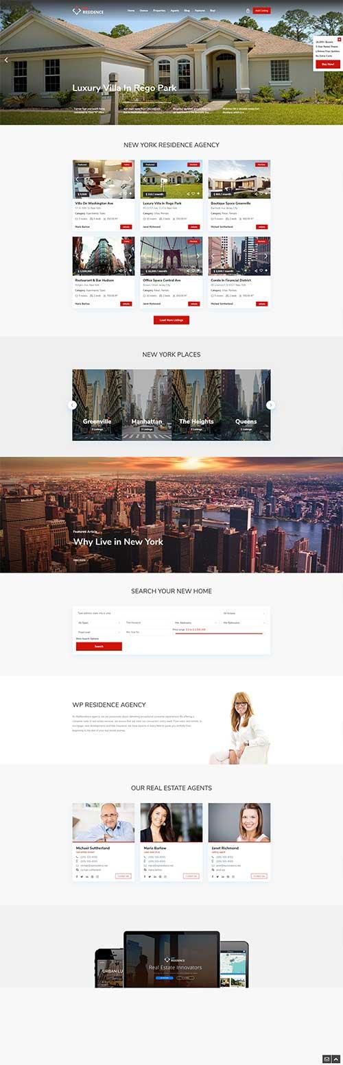 Mẫu website Bất động sản cho thuê