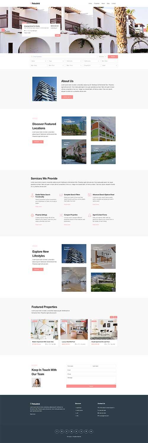 Mẫu web đăng tin bất động sản chuyên nghiệp
