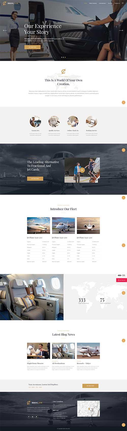 Mẫu web Công ty máy bay Bridge|Dịch vụ du lịch hàng không