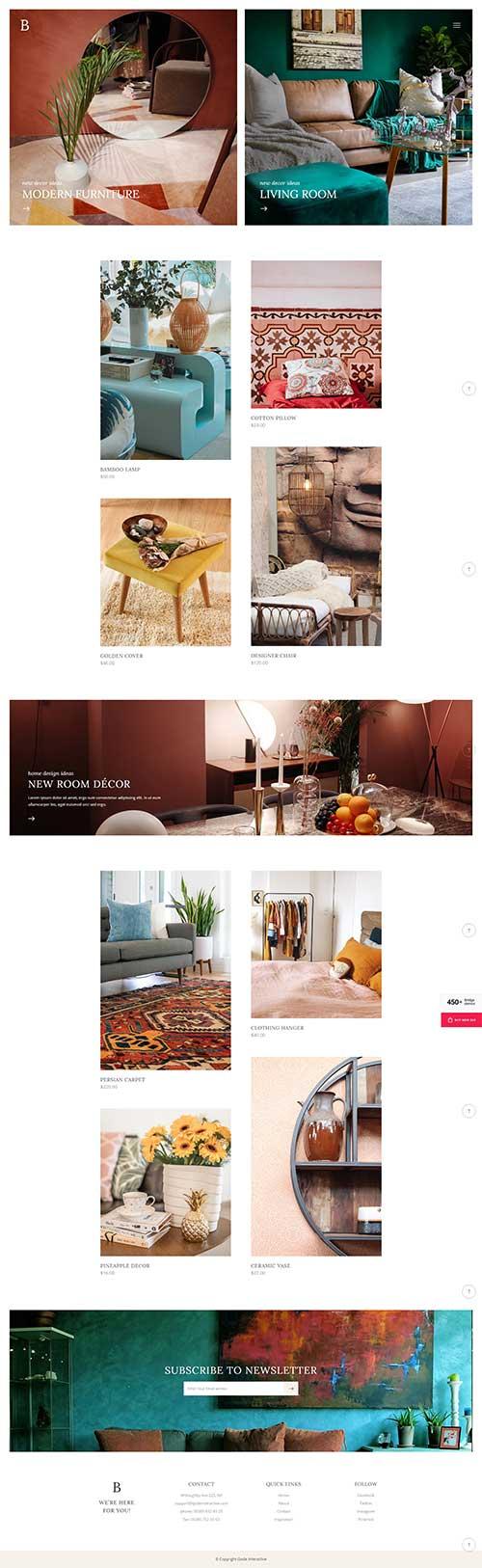 Giao Diện Mẫu Website Công ty thiết kế nhà Brige