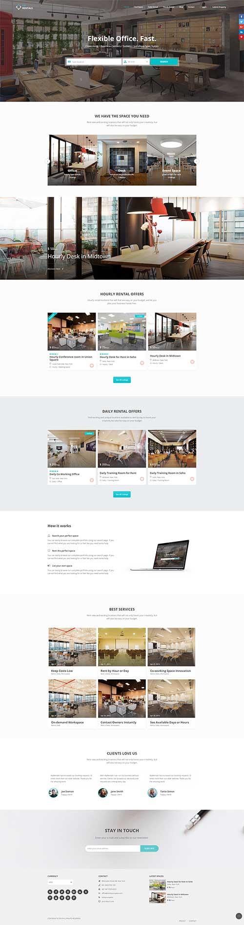 Mẫu website Đặt phòng tại Khách sạn Resort