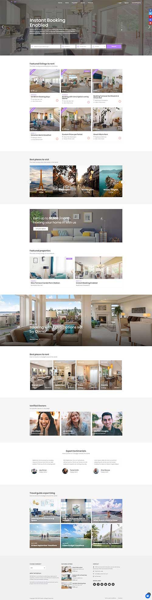 Website Khách Sạn giao diện thân thiện