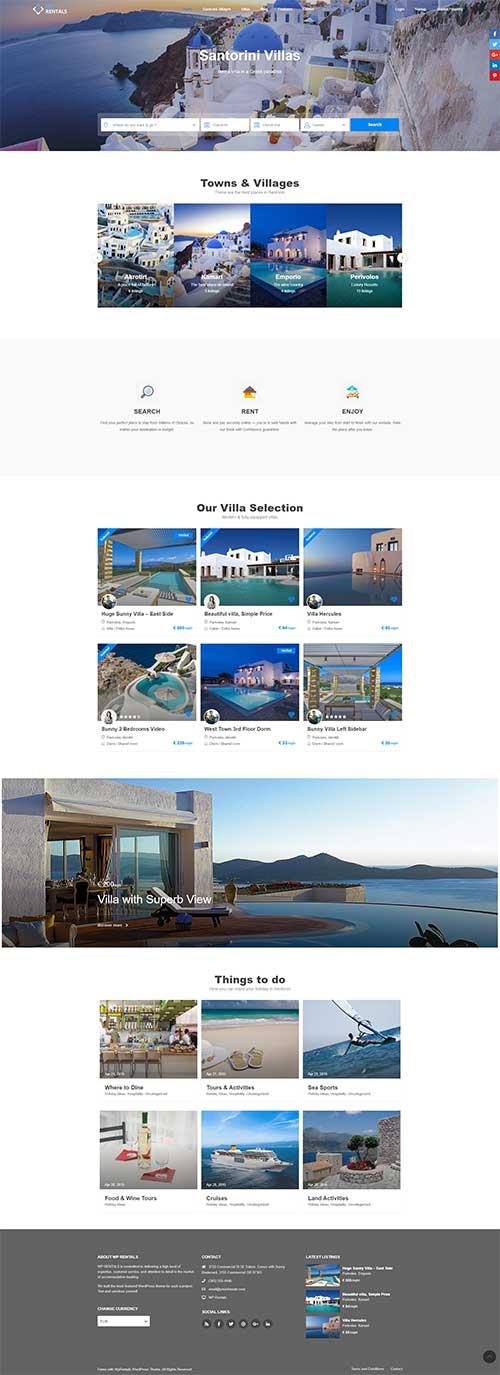 Mẫu web du lịch nghỉ dưỡng | Khách sạn Resort