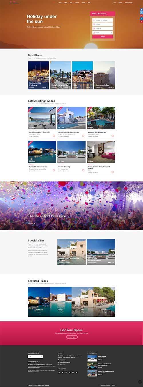 Mẫu web du lịch nghỉ dưỡng|Khách sạn resort ven biển