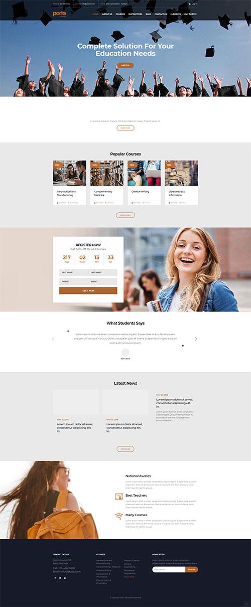 Mẫu website Khóa đào tạo, trung tâm giáo dục