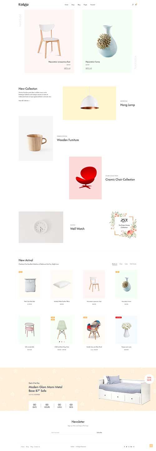 Website Showroom Nội Thất Khác Biệt Kable