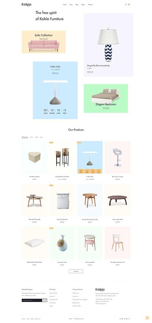 Website Showroom Nội Thất Cách Điệu Kable