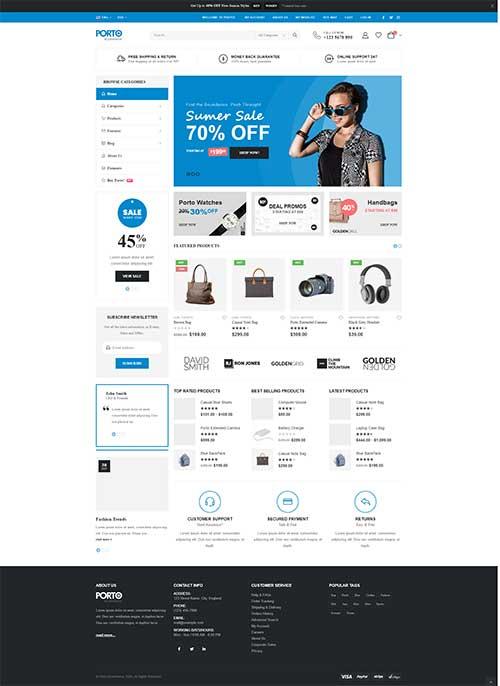 Website Thời Trang & Điện Tử Porto