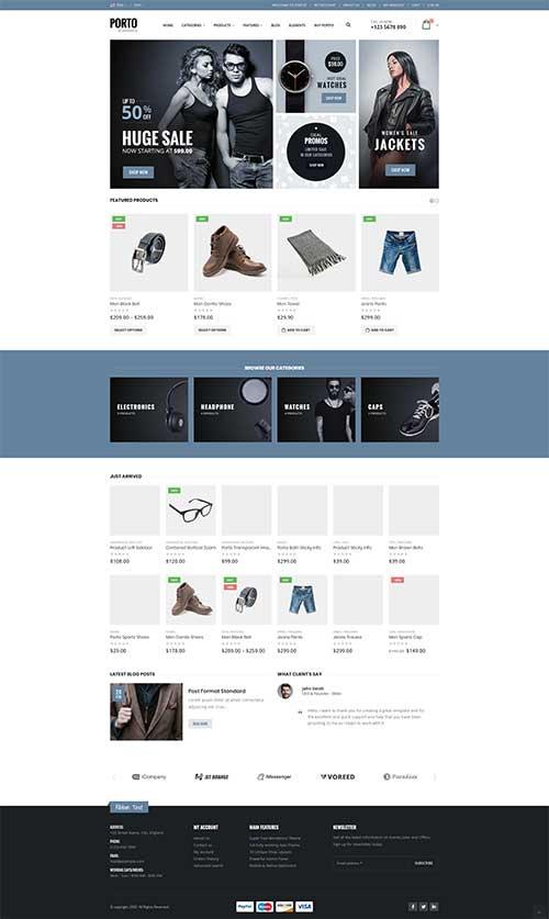 Website Thời Trang Nam Nữ Porto