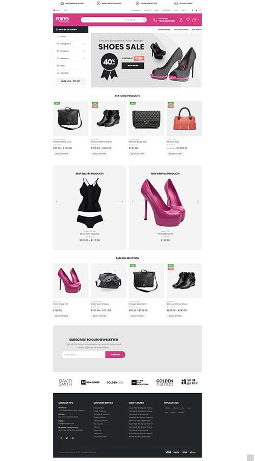 Website Shop Giày Dép Túi Xách Phụ Kiện Thời Trang