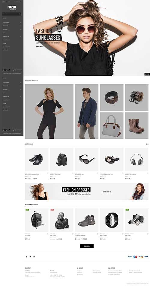 Website Shop Thời Trang & Phụ Kiện Porto