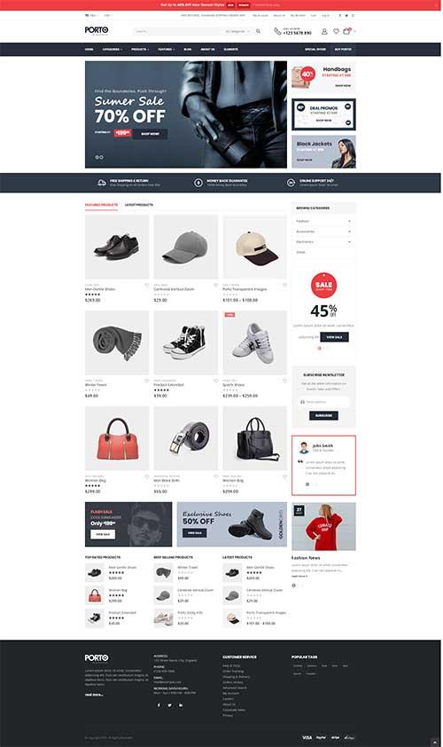 Website Shop Bán Phụ Kiện Thời Trang Nam Nữ Đẹp Porto