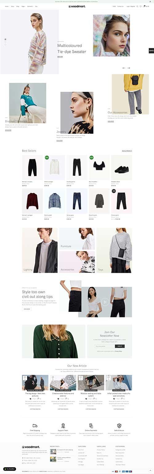 Website Shop Thời Trang Nữ Đẹp Woodmart