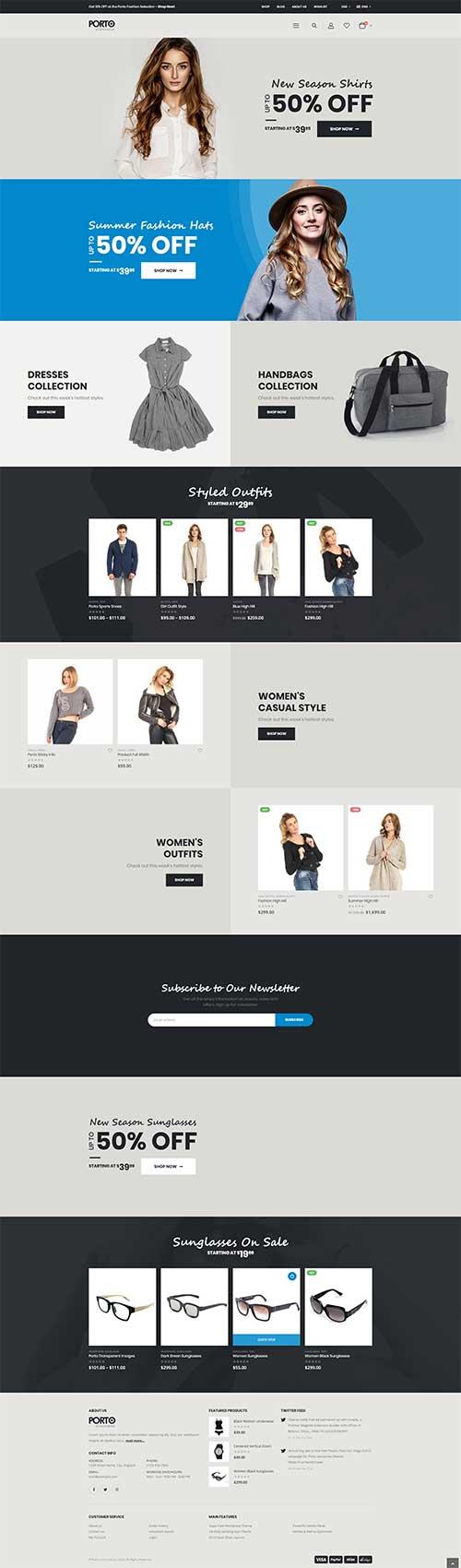 Website Shop Thời Trang Nữ Đẹp Porto