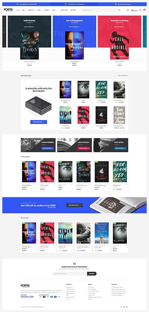 Mẫu website Shop bán sách đẹp khoa học