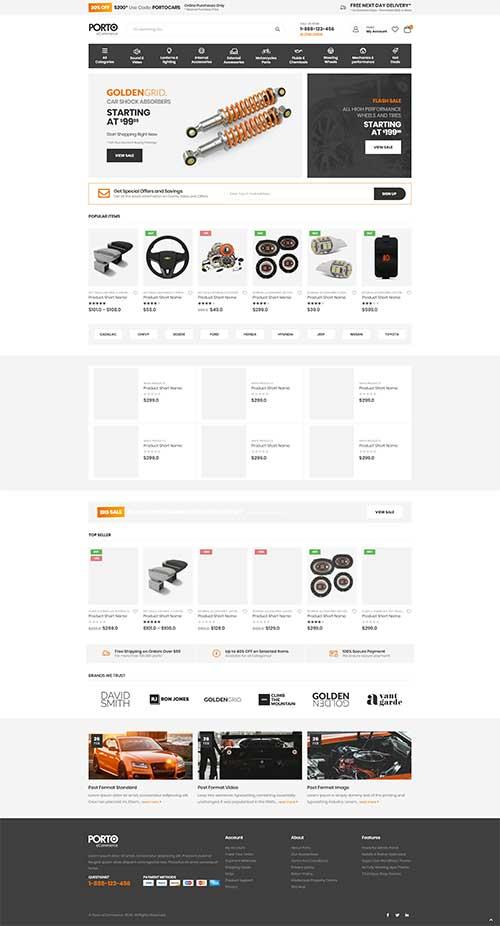 Website Bán Phụ Kiện Ô Tô Xe Máy Chuyên Dụng