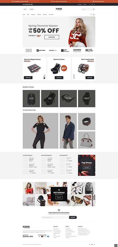 Mẫu web bán hàng thời trang hot nhất tại A&B Việt Nam