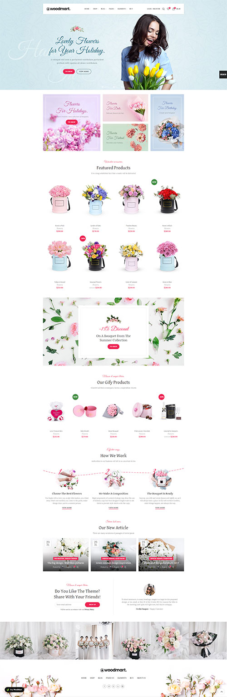 Website Shop Bán Hoa Woodmart