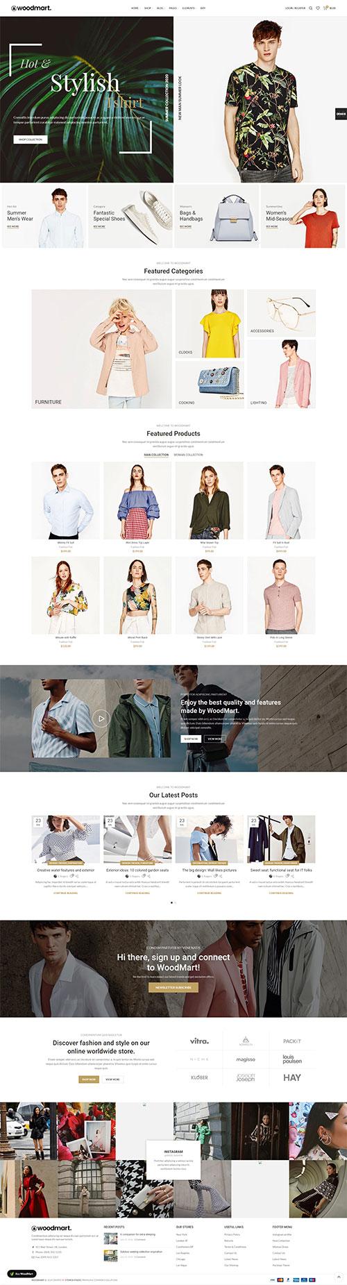 Giao diện Website Thời Trang Nam Nữ Đẹp Khác Biệt