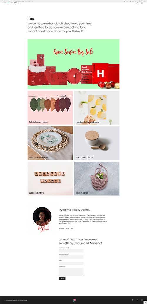Mẫu Website Shop Đồ Handmade Quà Tặng Đẹp