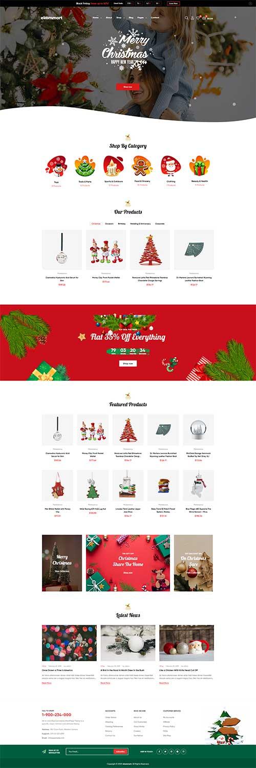 Shop bán đồ Merry ChristMas Ekommart