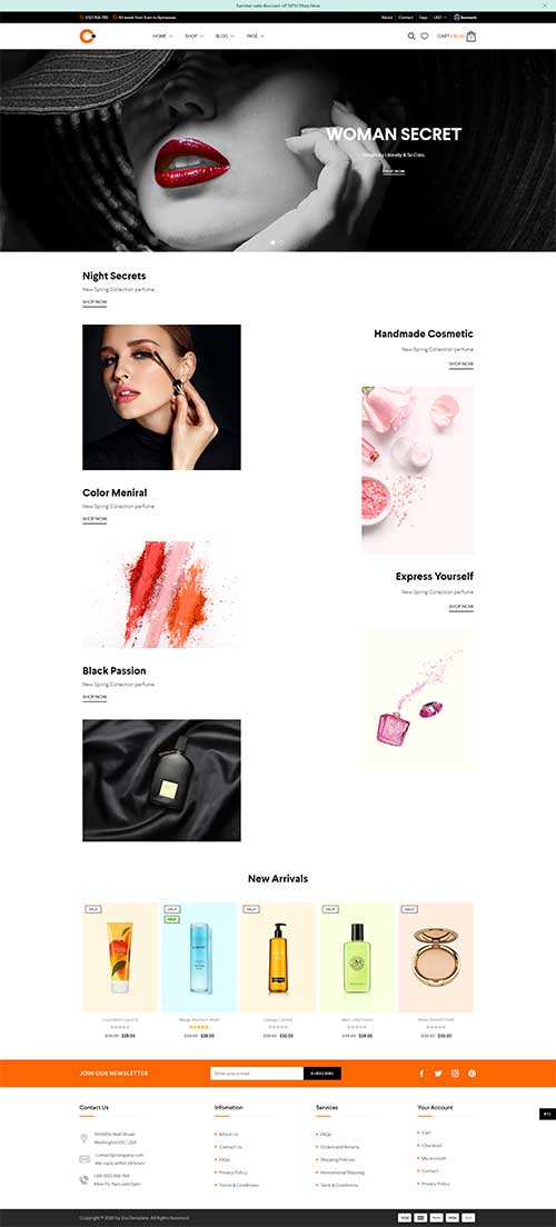 Web Shop Mỹ Phẩm Nước Hoa Đẹp