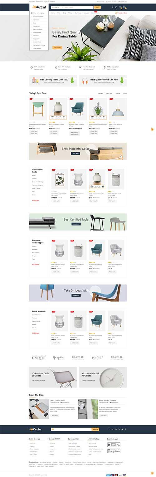 Website Showroom Nội Thất Sang Trọng KartPul