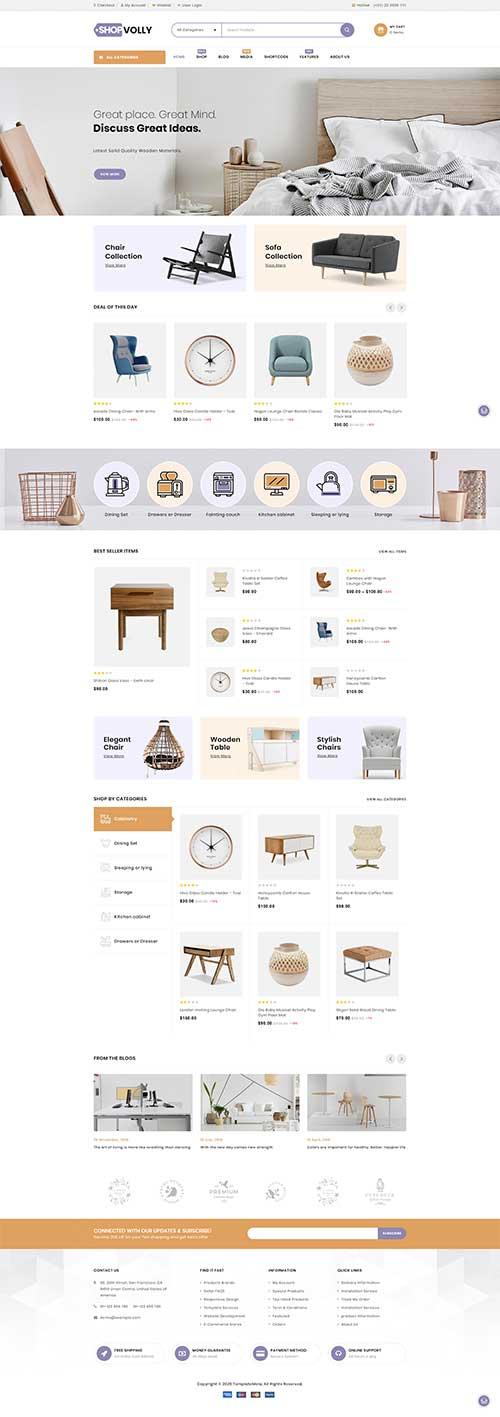 Website Showroom Nội Thất Đẹp ShopVolly
